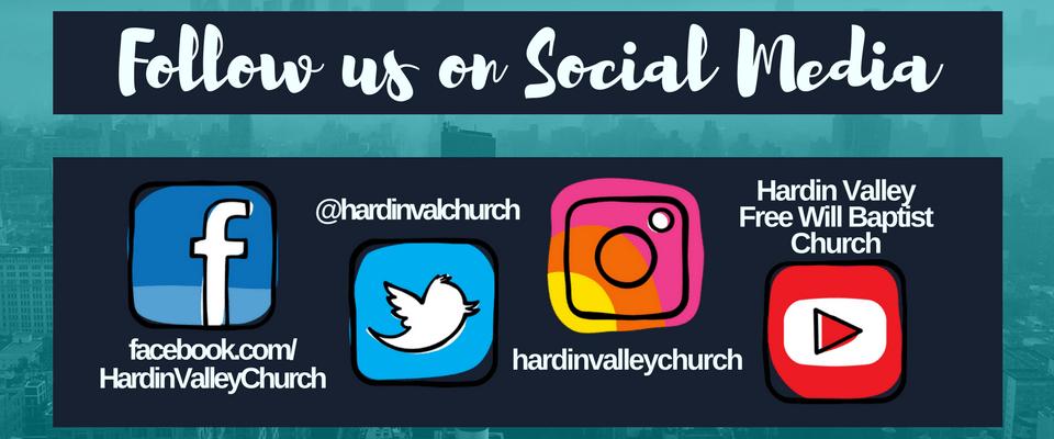 f625fb2aac6 Website Follow us on Social Media - Hardin Valley Church